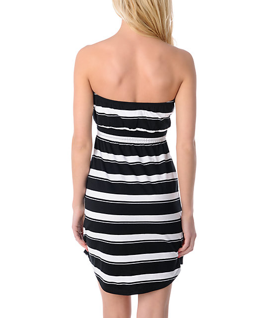 Empyre Black & White Stripe Tube Dress