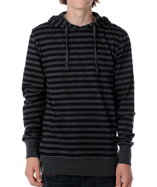 Empyre Blast Black & Charcoal Knit Hoodie