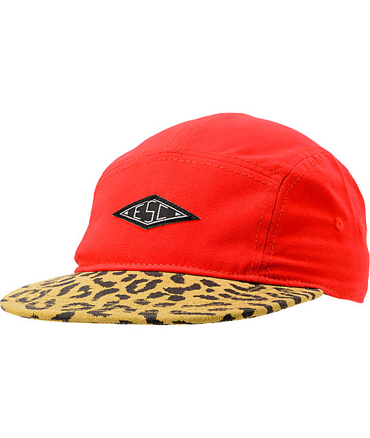 Empyre Blood Tiger Print 5 Panel Hat