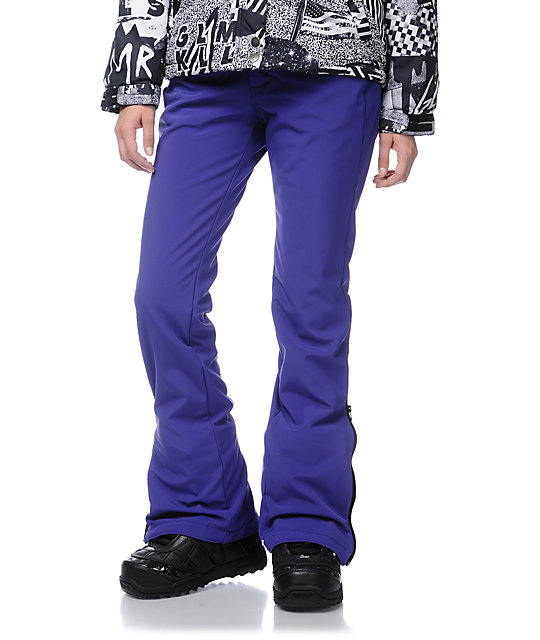 Empyre Blue Bird Purple 10K Skinny Snowboard Pants