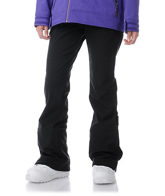 Empyre Blue Bird Skinny Black Snowboard Pants