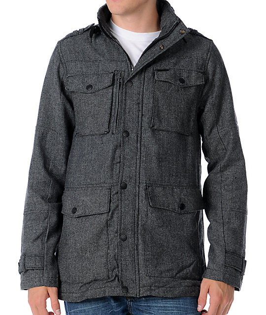 Empyre Bone Zone M-65 Charcoal Mens Military Jacket