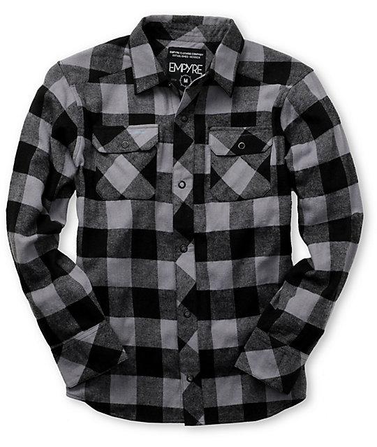 Empyre Boys Crazy Eight Black & Grey Flannel Shirt