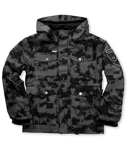 Empyre Boys Foothold Black Camo Snowboard Jacket
