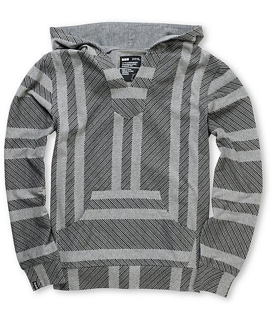 Empyre Boys Fransisco Lightweight Grey Knit Pullover Hoodie | Zumiez