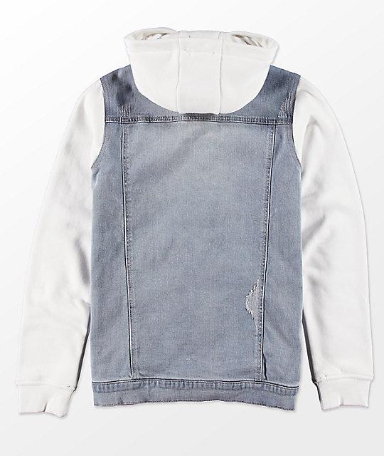 Empyre Boys Sidecar 2Fer Denim & Fleece Jacket
