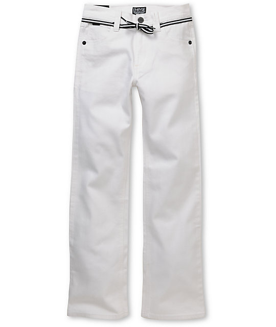 Empyre Boys Skeletor White Skinny Jeans