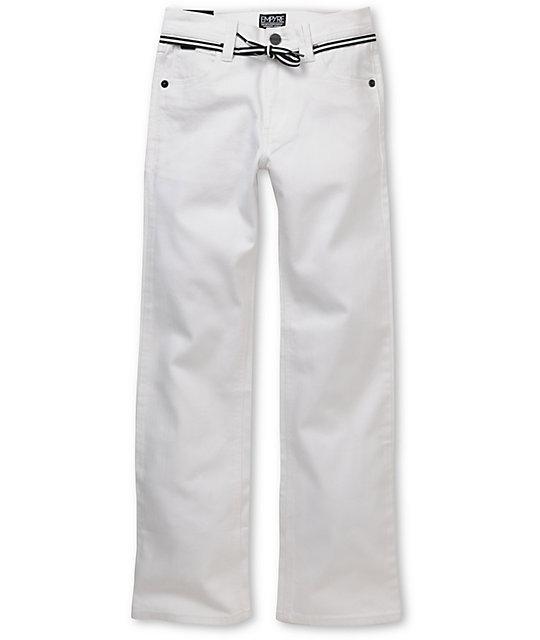 Empyre Boys Skeletor White Skinny Jeans