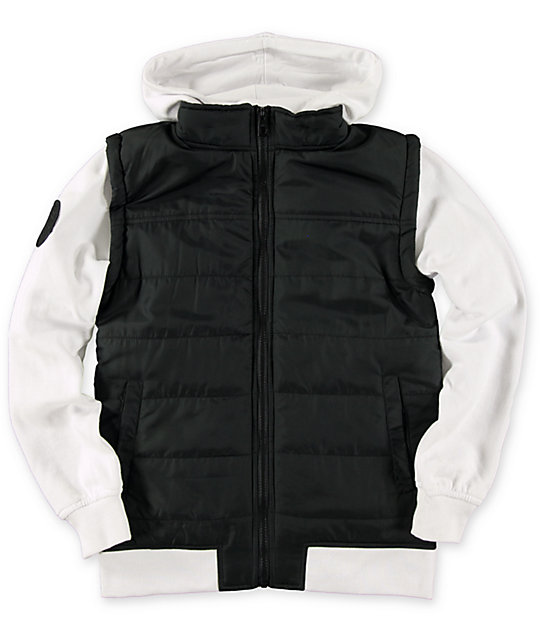 Empyre Boys Special Ops Black Amp White Vest Hoodie At