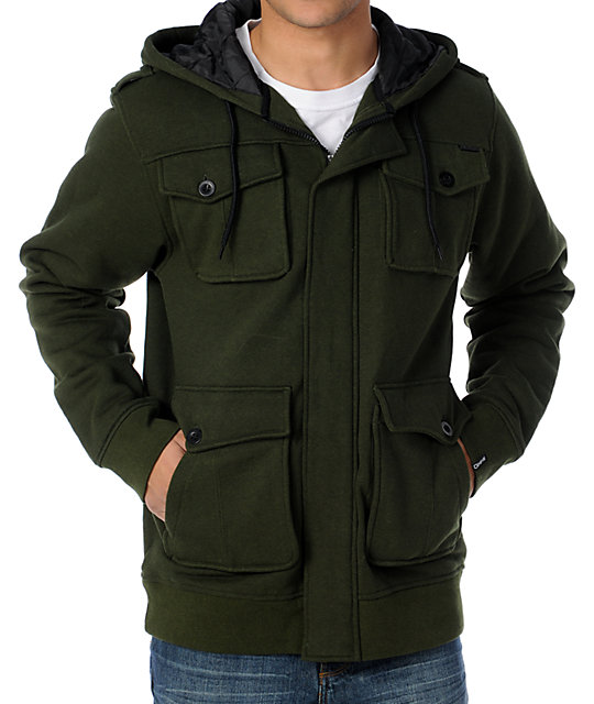 Empyre Brawler Green M65 Insulated Zip Up Hoodie at Zumiez : PDP