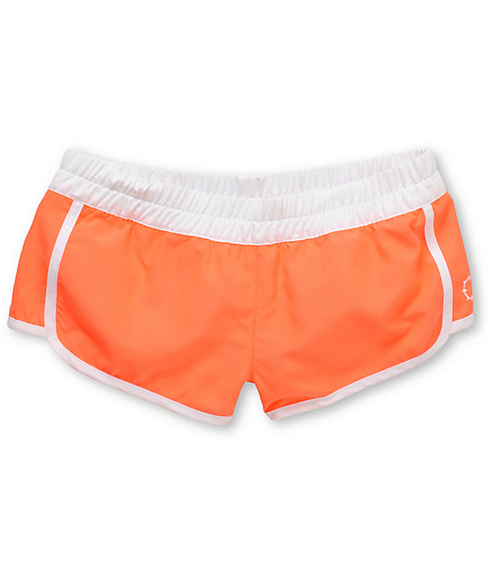 Empyre Bright Coral Kewalos Board Shorts
