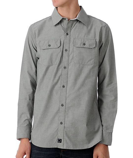 Empyre Bullet Grey Chambray Woven Shirt