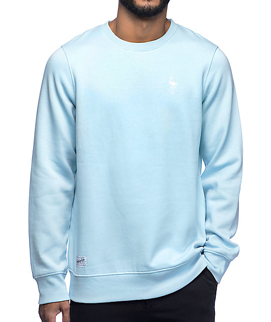 Business Blue Crew Neck Sweatshirt