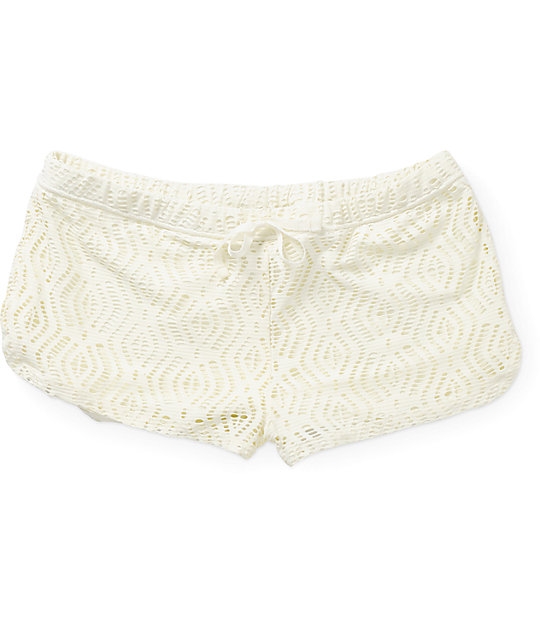 Empyre Cabrilla Vanilla Crochet Shorts