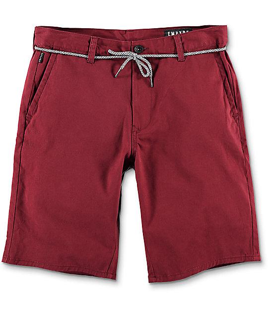 Empyre Cadet Burgundy Chino Shorts