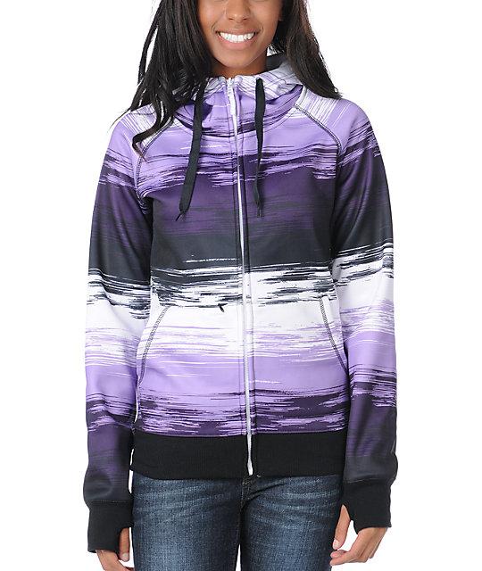 Empyre Canyon Purple & Black Stripe Tech Fleece Jacket