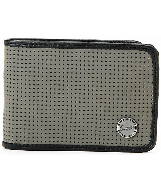 Empyre Caspella Grey Perforated Bifold Wallet