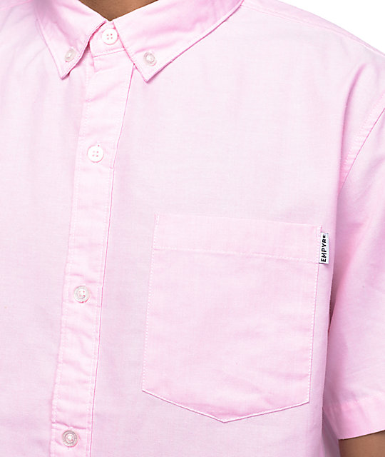 Empyre Casper Pink Oxford Short Sleeve Button Up Shirt