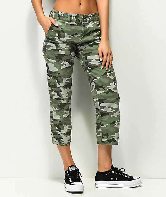 Empyre Cassia Straight Crop Camo Pants by Empyre