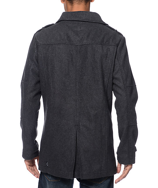 Empyre Chambers Charcoal Wool Pea Coat