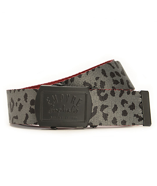 Empyre Cheetah Reversible Web Belt