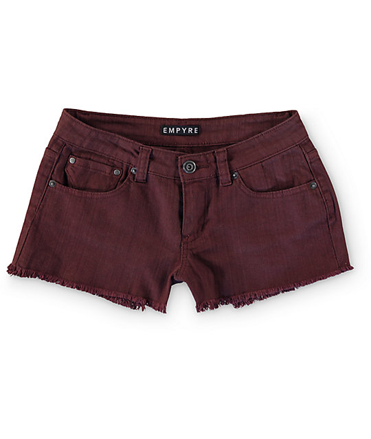 Empyre Cheyenne Blackberry Denim Shorts