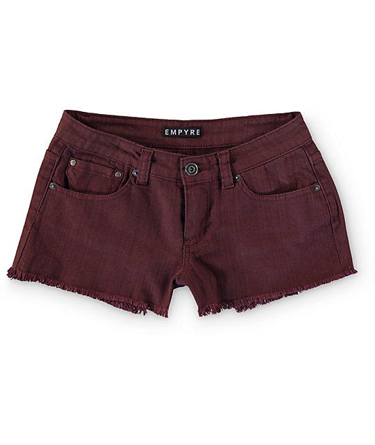 Empyre Cheyenne Blackberry Denim Shorts