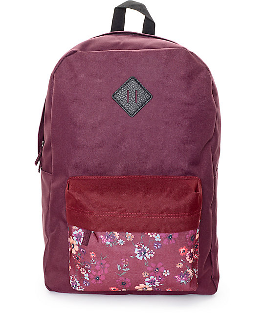 Empyre Chrissy Blackberry & New Red Floral Backpack