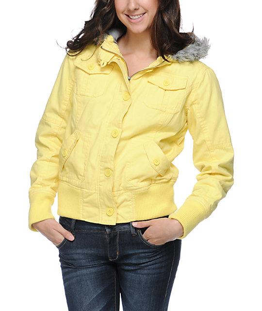 Empyre Cicada Buttercup Yellow Bomber Jacket