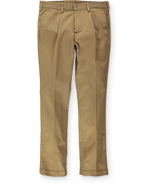 Empyre Classic Chino Pleated Dark Khaki Pants