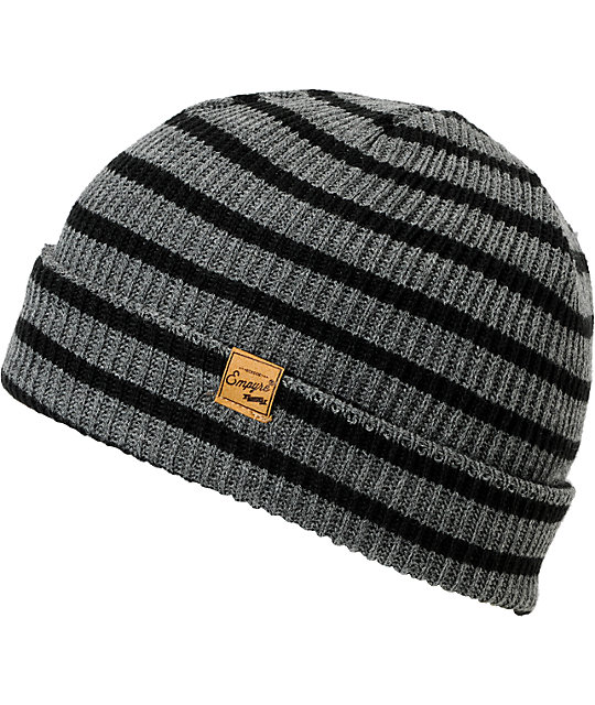 Empyre Clipper Black & Grey Beanie