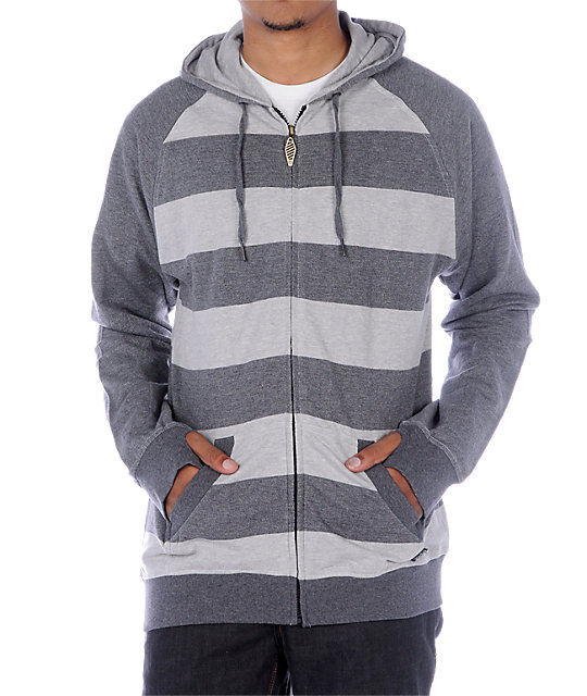 Empyre Clipper Grey Stripe Lightweight Hoodie