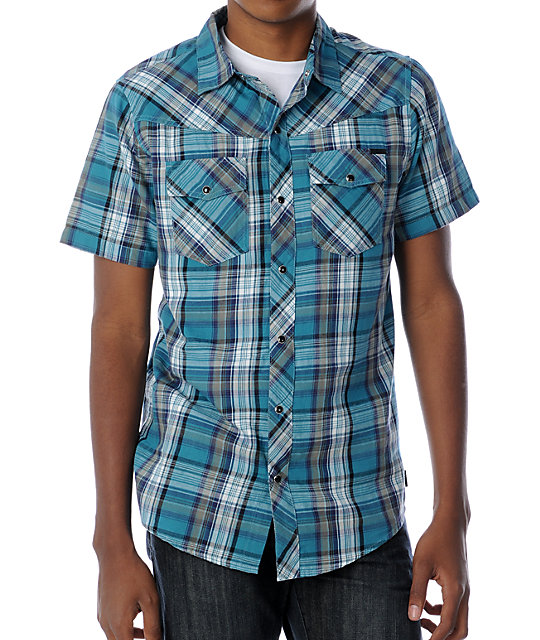 Empyre Cody Turquoise Woven Shirt