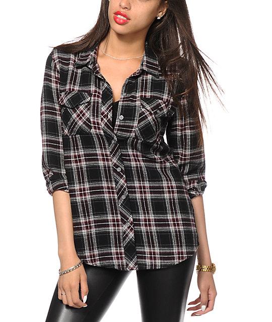 Empyre Cortland Black Flannel Shirt