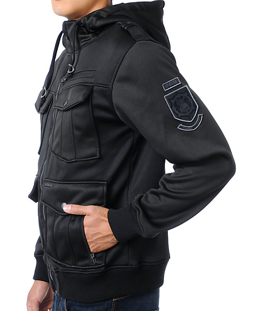 Empyre Coverfire Black Tech Fleece Jacket