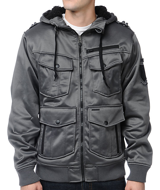 Empyre Coverfire Charcoal Tech Fleece Jacket