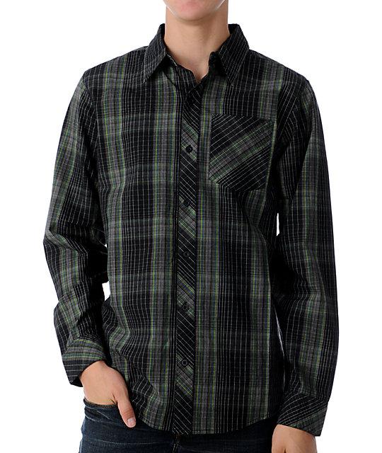 Empyre Crawler Black & Grey Woven Shirt