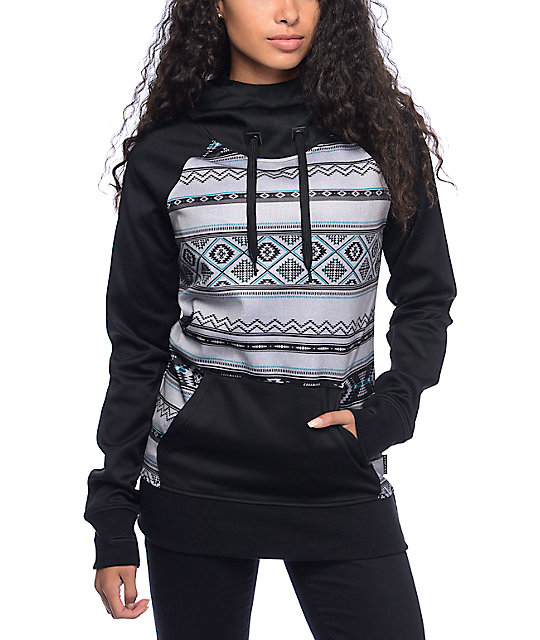 Empyre Crestone Black & Grey Tribal Tech Fleece Hoodie