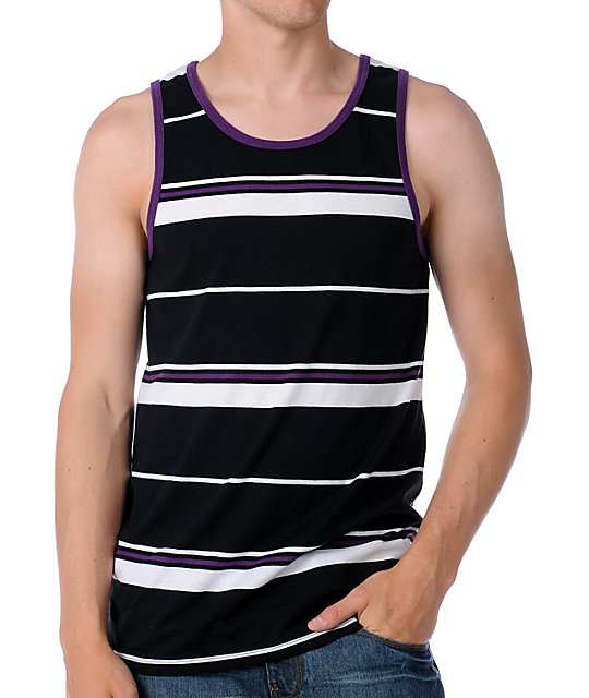 Empyre Crunch Time Black Stripe Tank Top