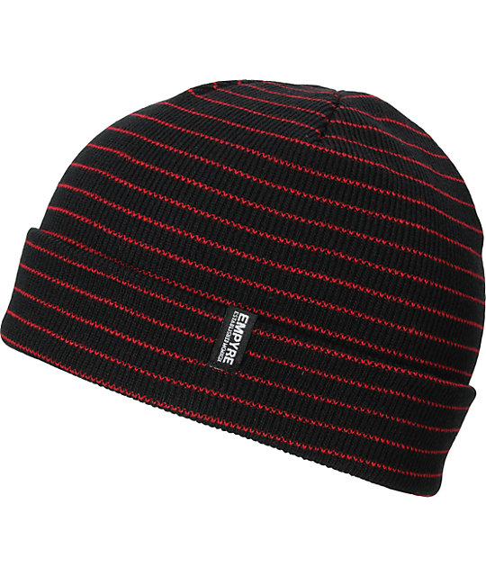 Empyre Curie Black & Red Beanie
