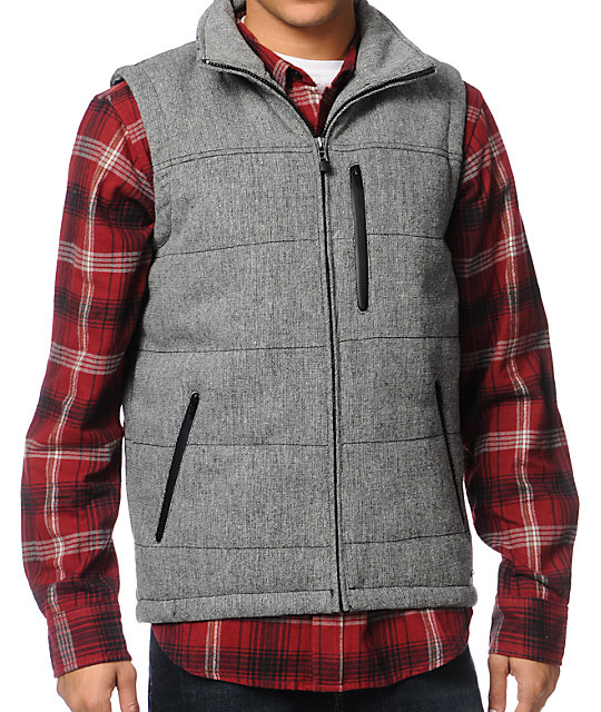 Empyre Cypress Heather Grey Puffer Vest