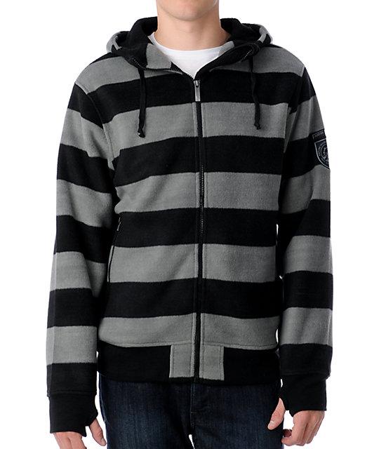 Empyre Daltrey Black & Charcoal Tech Fleece Jacket
