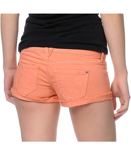 Empyre Dani Coral Denim Shorts