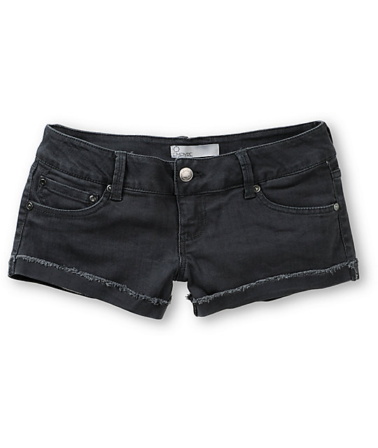 Empyre Dani Dark Grey Denim Shorts