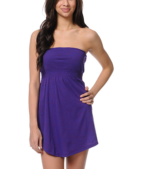 Empyre Dark Purple Strapless Dress