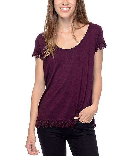 Empyre Davey Purple Trim T-Shirt