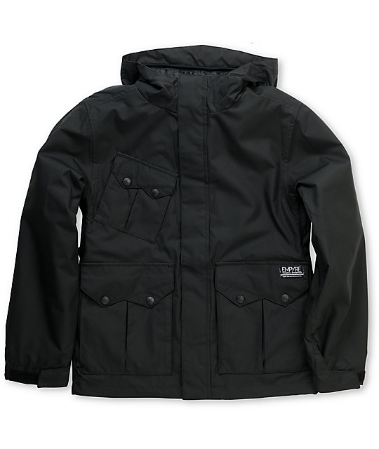 Empyre Descender Boys Black 10K Snowboard Jacket