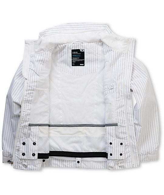 Empyre Descender Boys White 10K Snowboard Jacket