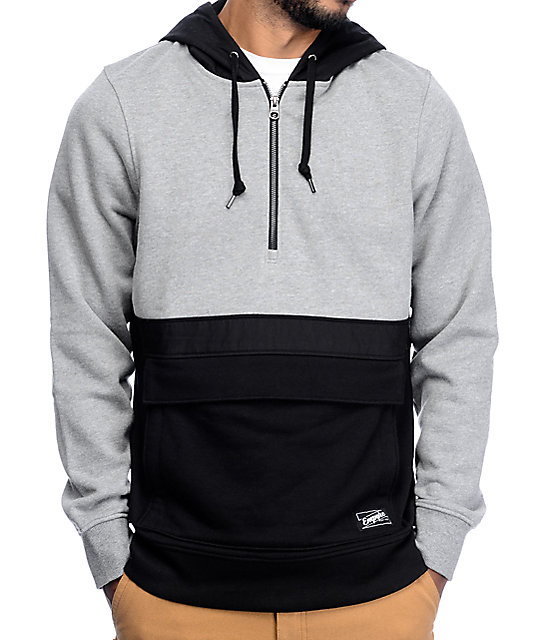 Empyre Digital Black & Grey Anorak Hoodie