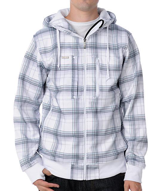 Empyre Dilemma White & Blue Tech Fleece Jacket